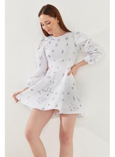 Reyon Elbise Beyaz